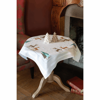 Embroidery Kit: Tablecloth: Norwegian Wild Reindeer By Vervaco