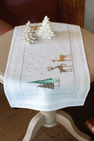 Embroidery Kit: Table Runner: Norwegian Wild Reindeer By Vervaco