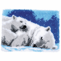 Latch Hook Kit: Rug: Ice Bears By Vervaco
