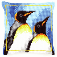 Cross Stitch Kit: Cushion: King Penguins By Vervaco