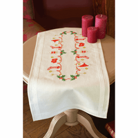 Embroidery Kit: Table Runner: Christmas Vervaco