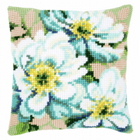 Cross Stitch Kit: Cushion: Japanese Anemones II by Vervaco