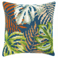 Counted Cross Stitch Kit: Cushion: Botanical Leaves By Vervaco