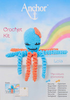 Crochet Kit: Octopus: Lola: Blue/Peach by Anchor
