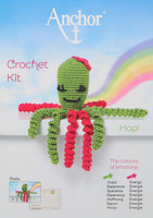 Crochet Kit: Octopus: Hopi: Lime/Fuchsia by Anchor