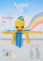 Crochet Kit: Octopus: Sunny: Yellow/Blue By Anchor