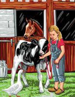 Canvas: Royal Paris: Farm Girl By Royal Paris