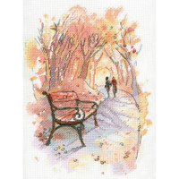 AUTUMN PROMENADE Cross Stitch Kit by MP Studia