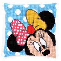 Cross Stitch Kit: Cushion: Disney: Minnie - Peek-a-Boo By Vervaco