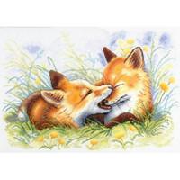 MISCHIEVOUS FOX Cross Stitch Kit by  MP Studia