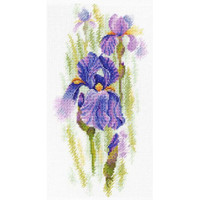 Ethereal Iris Cross Stitch Kit by MP Studia