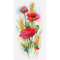 Poppy charm Cross Stitch Kit by MP Studia