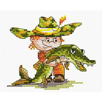Catched the Fish Cross Stitch Kit by  MP Studia