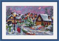 Christmas Night Cross Stitch By Merejka