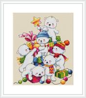 Christmas Bears Cross Stitch Kit By Merejka