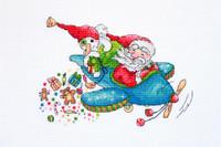 Christmas Flight Cross Stitch By Merejka