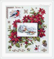 Winter Sampler Cross Stitch Kit By  Merejka
