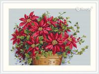 Poinsettia Cross Stitch Kit By  Merejka