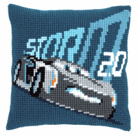Cross Stitch Kit: Cushion: Disney: Cars - Jackson Storm By Vervaco