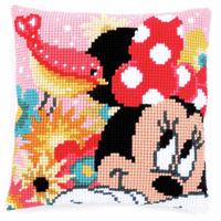 Cross Stitch Kit: Cushion: Disney: Minnie - Psst, I've a secret By Vervaco