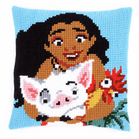 Cross Stitch Kit: Cushion: Disney: Moana By Vervaco