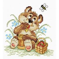 Bear Happiness Cross Stitch Kit by MP Studia