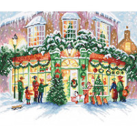 Christmas Shop Cross Stitch Kit by Luca S