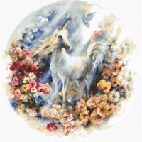 Unicorn Cross Stitch Kit by Luca S