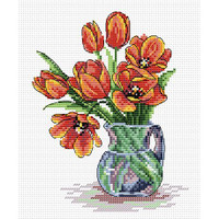 Spring Tulips Cross Stitch Kit by Luca S