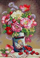 Cupid's Flowers Cross Stitch Kit By Merejka