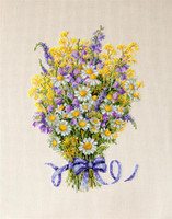 Summer Flowers Cross Stitch Kit By  Merejka