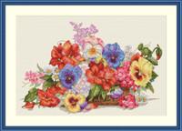 Garden Flowers Cross Stitch Kit By  Merejka
