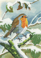 Robin in Winter Cross Stitch By Heritage