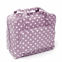 Mauve Spot Sewing Machine Bag Hobby Gift