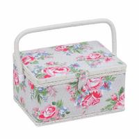 Roses Medium sewing Box Hobby Gift