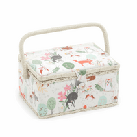 Woodland Animals Medium sewing Box Hobby Gift