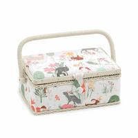 Woodland Animals Small sewing Box Hobby Gift