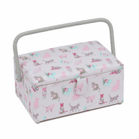 Cats Cantilever Sewing Box Hobby Gift
