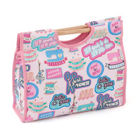 Sew cool Wooden Handle Craft Bag Hobby Gift