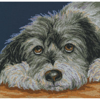 Dog Melancholy Cross Stitch Kit by RTO