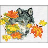 Wolf Cross Stitch Kit by RTO
