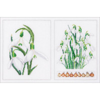 Snowdrops Panel Cross Stitch Kit by Thea Gouverneur
