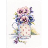 First Violets Cross Stitch Kit by RTO