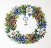 Winter Wreath Cross Stitch Kit By Merejka