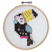 Counted Cross Stitch Kit with Hoop: Toucan