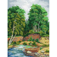 On the River Bank Cross Stitch Kit by Mp Studia