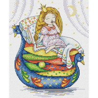 The princess and the Pea Cross Stitch Kit by MP Studia