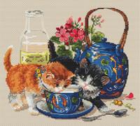 Kittens & Milk Cross Stitch Kit By Merejka