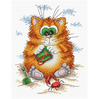 Cat on the Beach Cross Stitch Kit by MP Studia