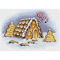 Gingerbread House Cross Stitch Kit by Mp Studia